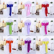 satin chair sashes 100pcs lot wedding decoration chair satin sashes gold satin chair