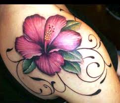 28 best hibiscus flower tattoos on shoulder images on pinterest