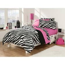 Zebra Print Single Duvet Set Girls Bedroom Minimalist Pink Zebra Bedroom Decoration Using