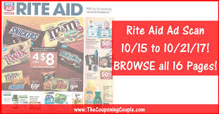 rite aid weekly ad scan 10 15 17 10 21 17 rite aid ad preview