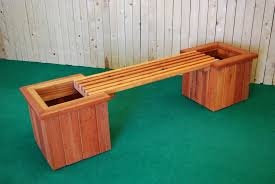Redwood Planter Boxes by Pl Box Straight Planter And Bench U2014 The Redwood Store