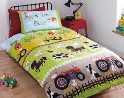 Farm Animals Crib Bedding by Apple Tree Farm Bedding Farm Animals Tractors Duvet Comforter