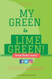 Color Of 2017 my green is lime green social media contest each mind matters