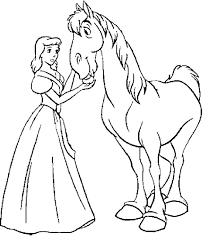 cinderella horse coloring cinderella