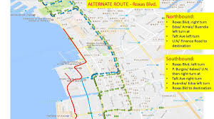 Metro Manila Map by Rerouting Plan For Motorists Affected By Asean Summit Events