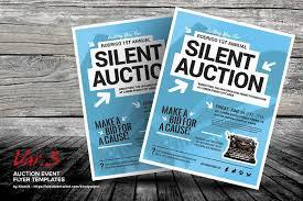 auction event flyer templates flyer templates creative market