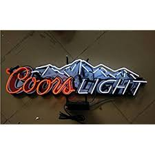 coors light bar sign mirsne 37 by 11 coors light neon signs glass tube neon open sign