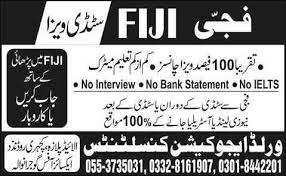 new zealand job interview admissions open 2014 study visa with job in fiji for matric no