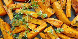 sweet potato thanksgiving side dish thyme roasted sweet potatoes recipe epicurious com