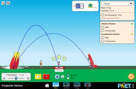 projectile motion kinematics air resistance parabolic curve