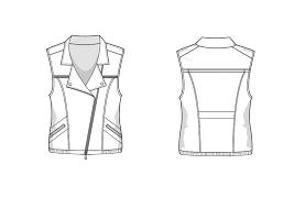 biker vest biker vest fashion flat template templates creative market