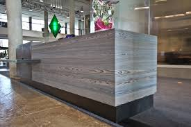 Concrete Reception Desk Newly Installed Media Cabinets And Reception Desk Cladding Shou