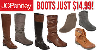 womens boots on sale jcpenney jcpenney black friday boots for 14 99 more shoe deals