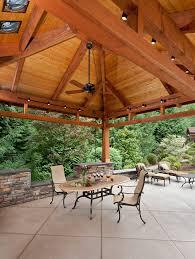 Color Concrete Patio by Integral Color Concrete Patio Farmhouse With Outdoor Lounge