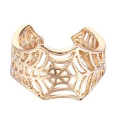 aliexpress buy new arrival 10pcs silver gold kinitial 10pcs brand gold silver luxury spiderweb ring