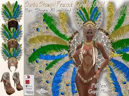 mardi gras carnival costumes second marketplace samba showgirl peacock complete