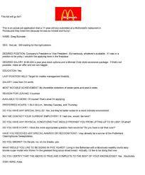 mcdonalds cv templates franklinfire co resume sles for high