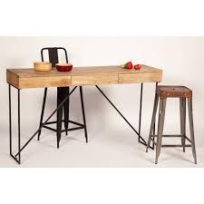 bureau bois design contemporain console bureau design bois métal 3 tiroirs