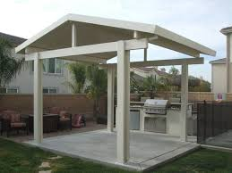 covered patio with permanent roof in white color practical