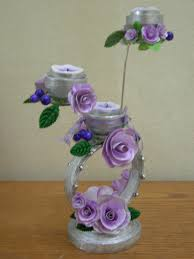 best out of waste paper decorative candle stand proyectos que
