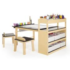 guidecraft childrens table and chairs guidecraft deluxe art center guidecraft