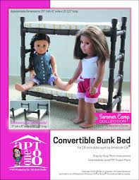 Barbie Bunk Beds Aptone8 Convertible Bunk Bed Pattern 18 Inch Dolls Such As