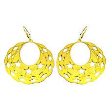 golden earrings beautiful dangling moon golden earrings