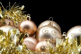 photo of gold baubles and tinsel free images