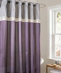 Steel Grey Curtains Purple And Grey Shower Curtain Plus Curved Steel Rod And S Hook