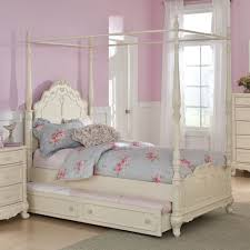 Poster Bed by Homelegance Cinderella Canopy Poster Bed In Antique White Beyond
