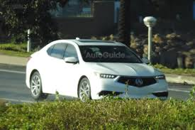 redesigned 2018 acura tlx spied fully exposed drive accord honda