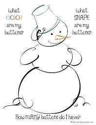 shape recognition worksheet snowman math activity mat