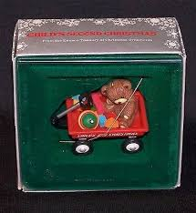 enesco 1985 child u0027s 2nd christmas children s teddy bear toys