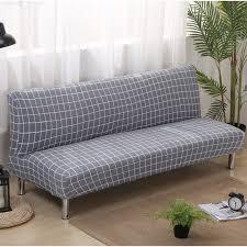 canap lit pliant canapé lit pliant couvre élastique gris plaid imprimé canapé couvre