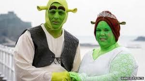 jersey couple marry shrek fiona shrek film bbc