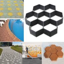 Concrete Patio Stone Molds by Paving Diy Pavement Concrete Stepping Driveway Stone Path Mold