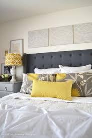 Winged Tufted Headboard by Gray Tufted Headboard Bedroom Ideas Pinterest Tufted