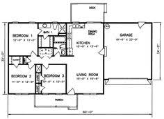 Three Bedroom House Floor Plans Floor Plan For Affordable 1 100 Sf House With 3 Bedrooms And 2