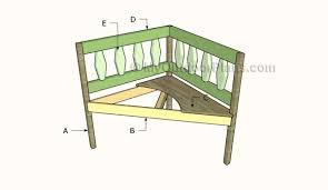 corner bench plans myoutdoorplans free woodworking plans and