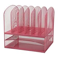 Pink Desk Organizers And Accessories Desk Adir Mesh Desk Organizer Paper Organizer Desktop File
