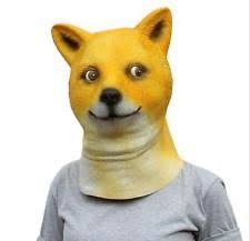 What Is Doge Meme - cosplay wow head doge meme mask animal latex headgear shiba dog