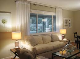 Blinds And Curtains Make Your Picture Windows Look Huge By Hanging Bamboo Blinds And