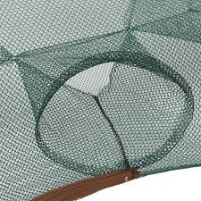 foldable 6 holes fishing net fish shrimp minnow crab baits cast