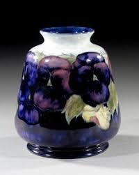 Moorcroft Clematis Vase Moorcroft Clematis Vase Vintage Cabinet Vase Boho Botanical Vases