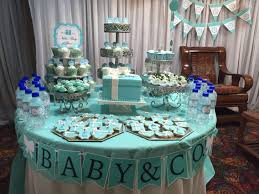 blue baby shower baby co themed baby shower table made blue chocolate