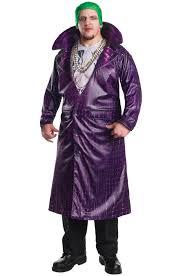 squad deluxe joker plus size costume purecostumes com