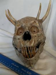 demon devil skull halloween horror monster prop display real