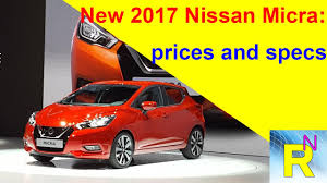 nissan micra new price car review new 2017 nissan micra prices and specs read