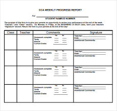 academic progress report template sle weekly progress report 13 documents in pdf word