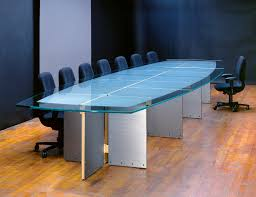 Glass Top Conference Table Modern Conference Tables Pedestal Stoneline Designs